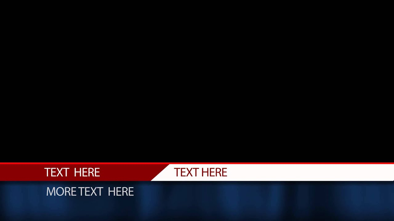 free after effects lower third template cable news station