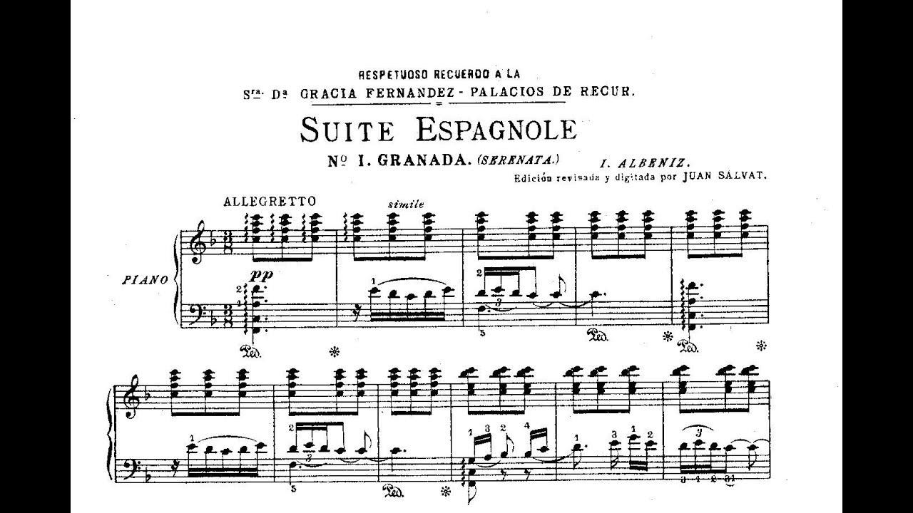 Isaac Albéniz Suite Española Op 47 1886 Youtube