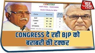 #ExitPollHaryana: Aaj Tak Exit Poll के अनुसार Congress दे रही BJP को बराबरी की टक्कर