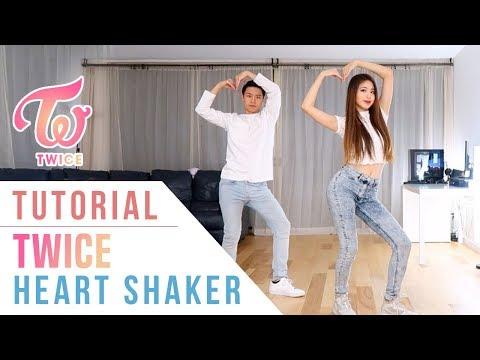 "TWICE(트와이스) - ""Heart Shaker"" Dance Tutorial (Mirrored) | Ellen and Brian"