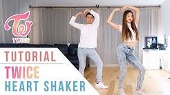 "TWICE(트와이스) - ""Heart Shaker"" Dance Tutorial (Mirrored)   Ellen and Brian"
