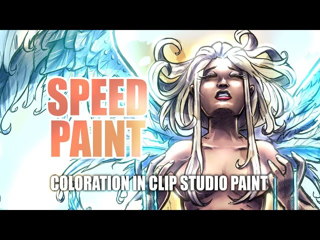 SPEEDPAINT ⭐ Evanescence: Running Out of Time (Digital Comic Art) Coloration in Clip Studio Paint