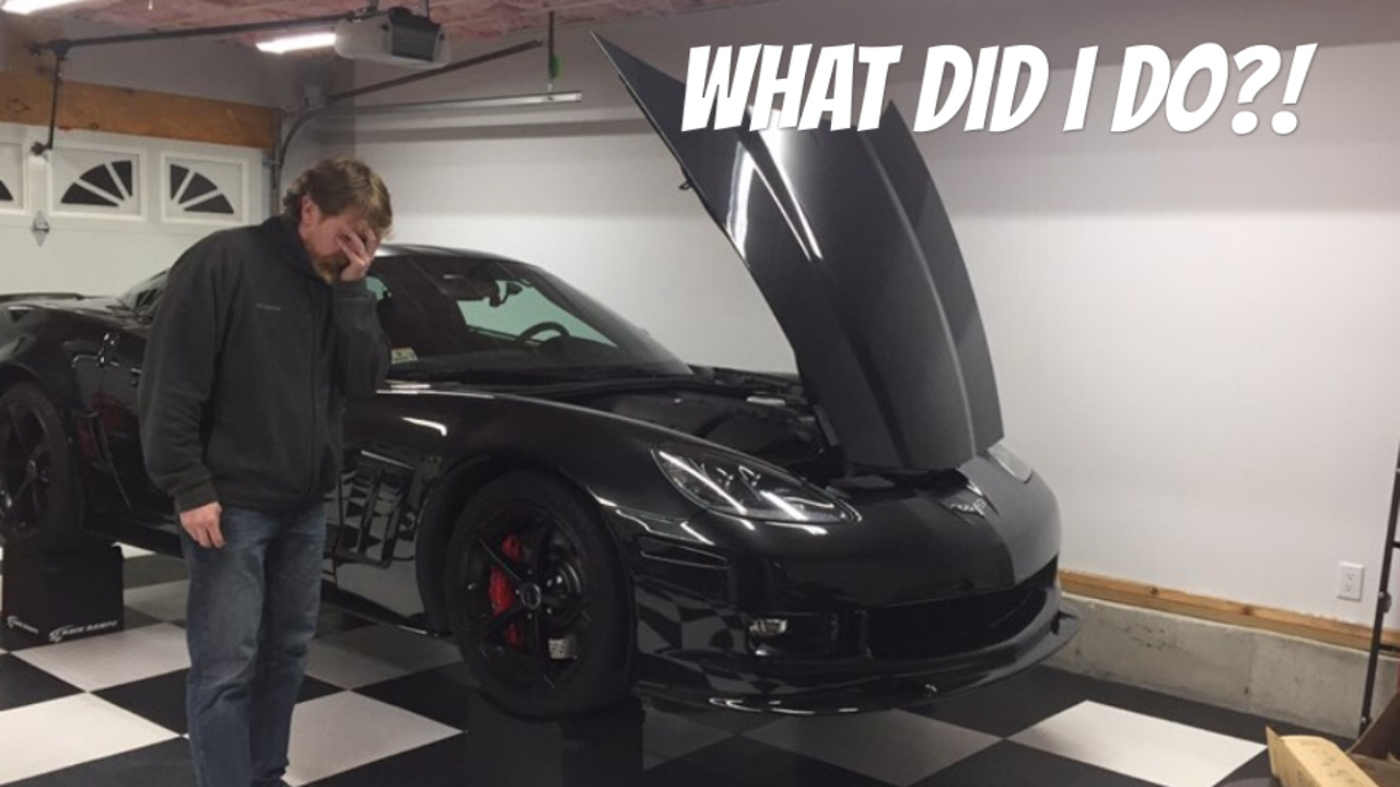 Jacking A C6 Corvette With Side Skirts Onto 12 Quot Race Ramps