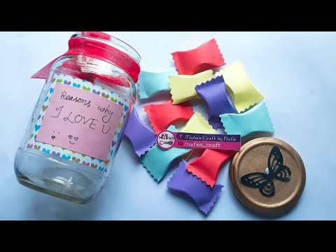 DIY Paper Candy || Reasons Why I Love You Jar || Candy Secret Message|| Valentine's Day Gifts ||