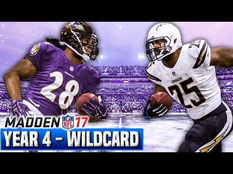 Madden 17 Chargers Franchise Year 4 - Wildcard Playoffs @ Ravens   Ep.89