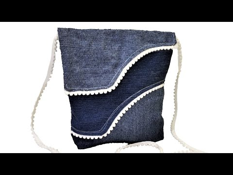 How To Make Latest Fashion Jeans Bag From Old Jeans   DIY Jeans Bag   Hand Bag   Cross Body Bag