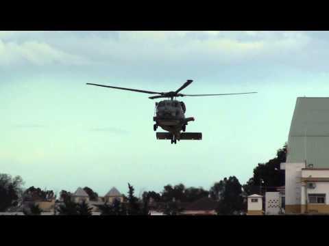 Spain Navy Sikorsky SH 60B Seahawk (01-12) Landing emergency crosswind Malaga AGP