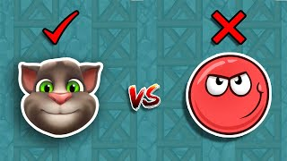 TALKING TOM vs RED BALL 4  ANIMATION  ALL LEVELS BOSS FIGHTS ( WATCH TILL END )