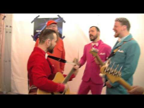 Behind the scenes: Pollapönk (Iceland) singing No Prejudice