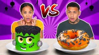 HALLOWEEN VS REAL FOOD CHALLENGE!