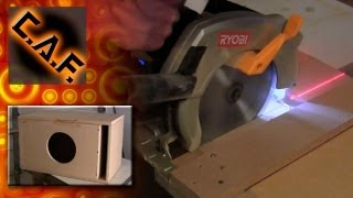 How To: Make Sub Box Circular Saw, No Table Saw, Speaker Enclosure Caraudiofabrication