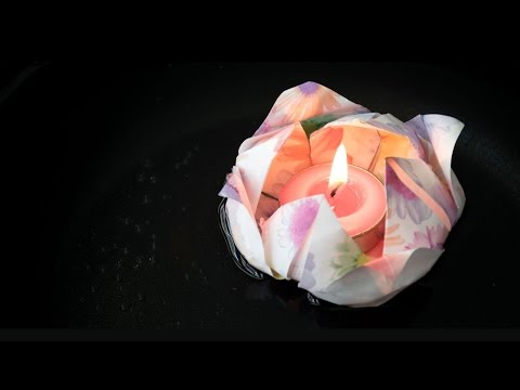 วิธีทำกระทง DIY ด้วยกระดาษห่อของขวัญ สำหรับวันลอยกระทง