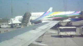 เครื่องบินลงที่สุวรรณภูมิ กลับจากพม่า