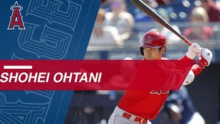 Ohtani walks twice, hits RBI single in spring offensive debut