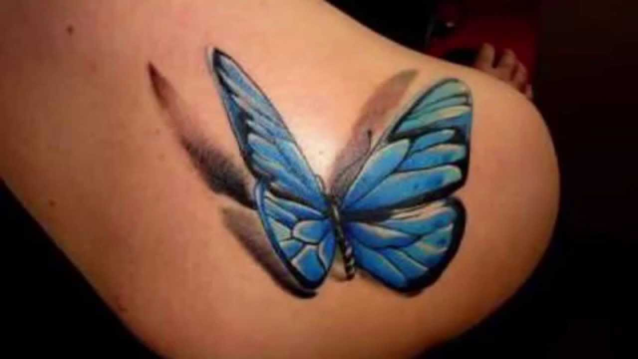 Realistic Butterfly Tattoos - Tattoo Designs for Girls - YouTube