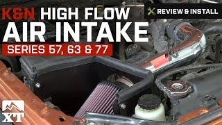 2007 2016 wrangler k 57 63 77 series high flow air intake jk 3 8l 3 6l review install