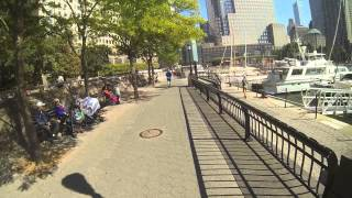 GoPro - Bike ride through Nelson A. Rockefeller Park, WTC 9/20/13