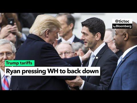 Ryan Pushes Trump to Back Down on Tariffs