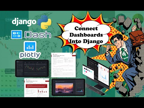 Django Plotly Dash Tutorial How to Connect Dashboards & Graphs into a Python Full Stack Application thumbnail