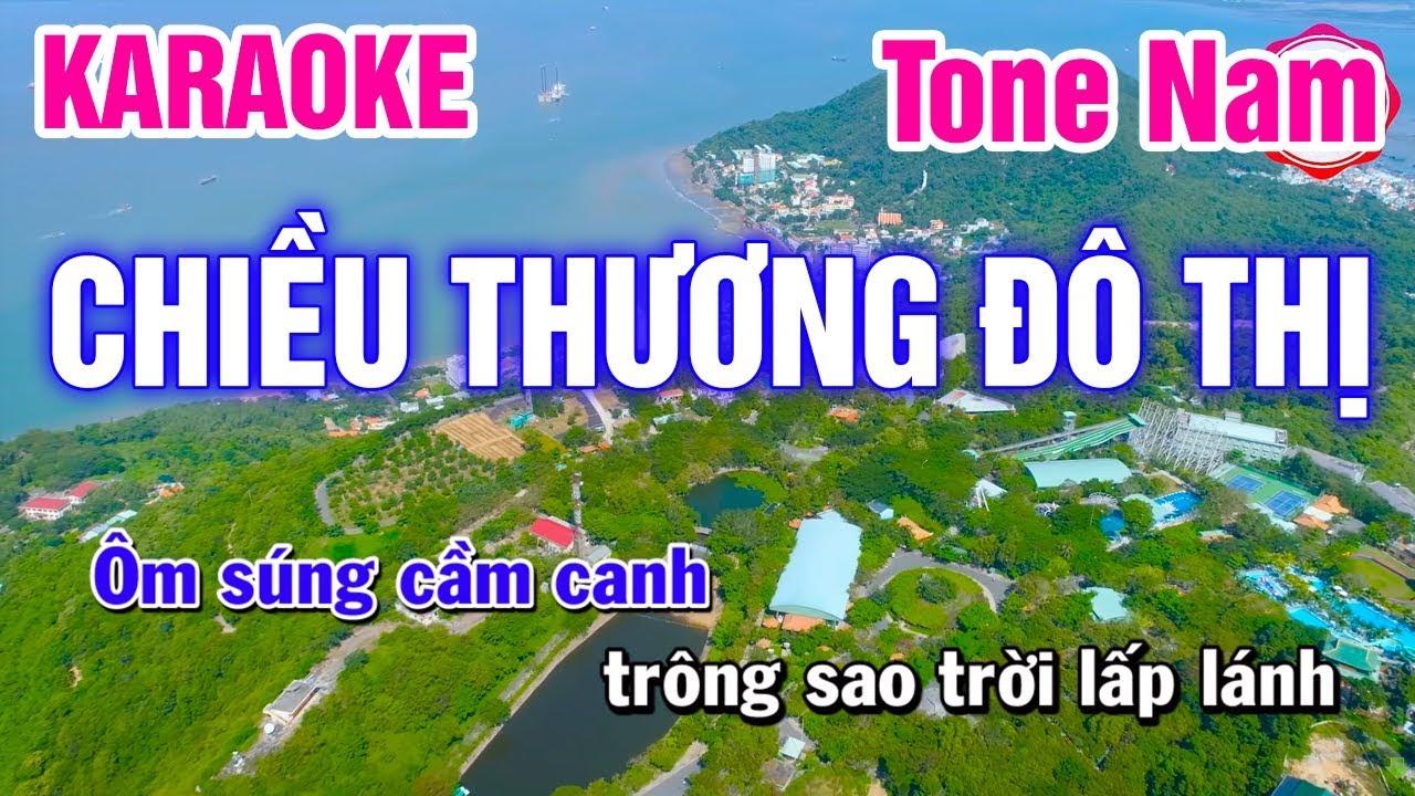 Karaoke Chiều Thương Đô Thị Tone Nam Nhạc Sống | Mai Thảo Organ