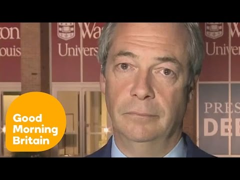Nigel Farage Says Trump Won The Second Presidential Debate   Good Morning Britain