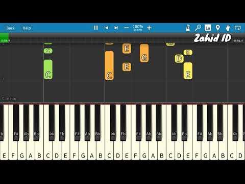 Lagu Anak KASIH IBU Piano Tutorial (Belajar Musik)