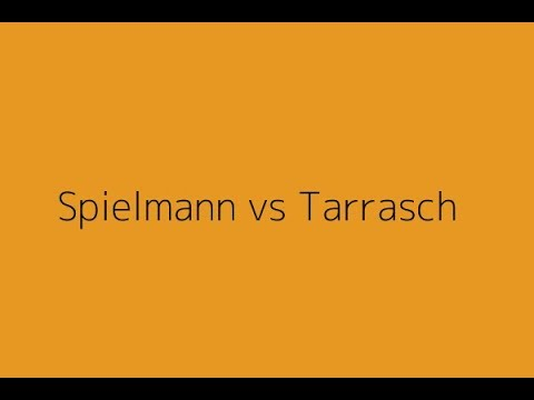 Famous Chess Game: Spielmann, R. vs Tarrasch, S. | Spain-1912