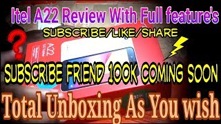 #Itel || #itel A22 || Itel A22 unboxing