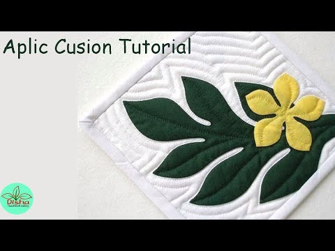 Hand Embroidery/Aplic Work Tutoriul For Cushion And Bedsheet/Applique Work/Rilli Work/PatchWork#107