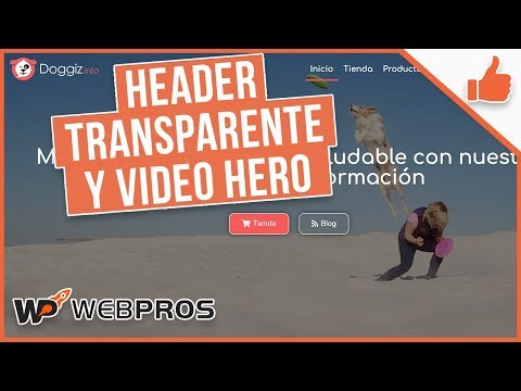 Tutorial Elementor: Header Transparente y Video HEROE thumbnail