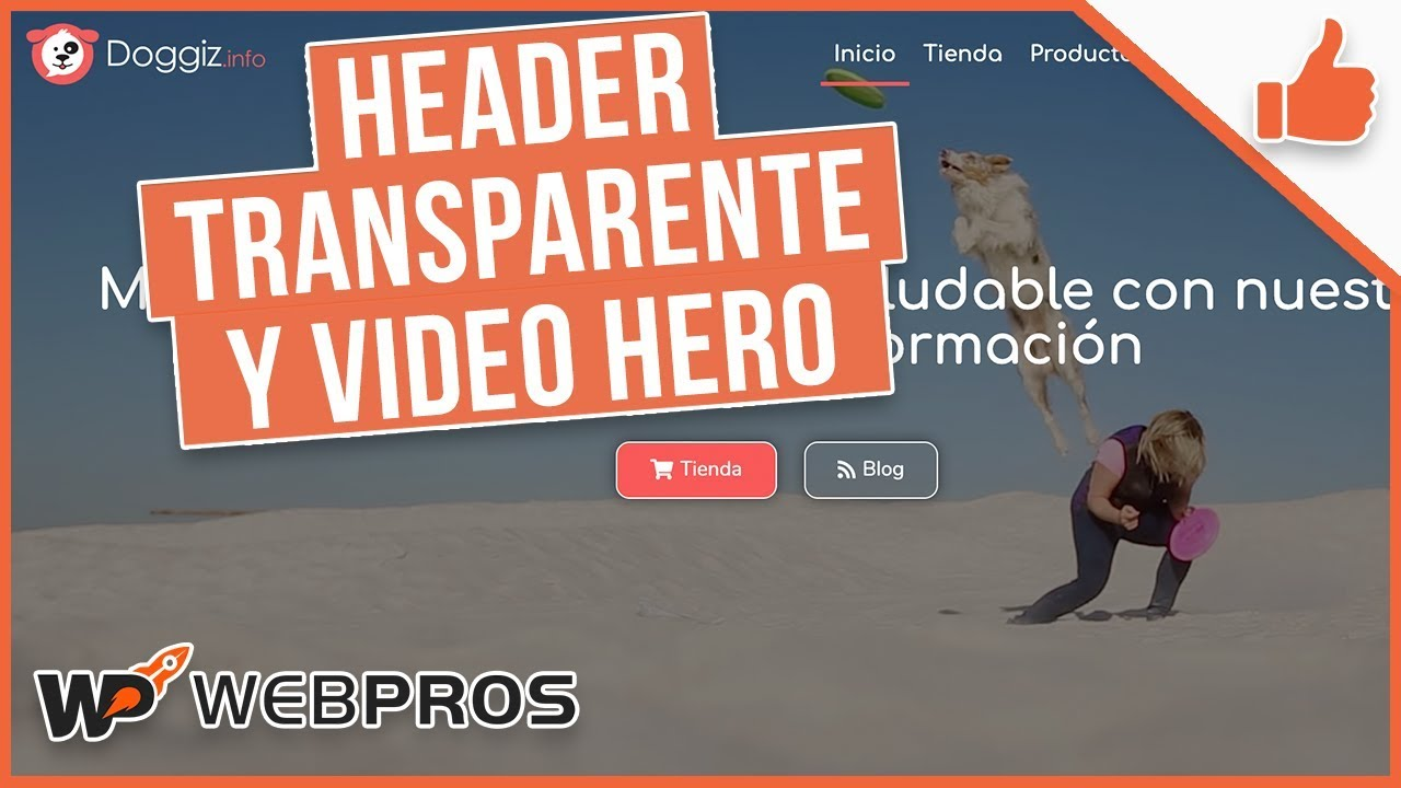 Creando un header adicional con transparencia y agregando un video al bloque hero