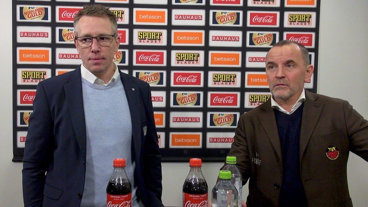 Presskonferens: Luleå - Linköping (12/1)