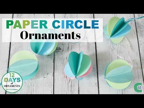 Circle Paper Ornaments