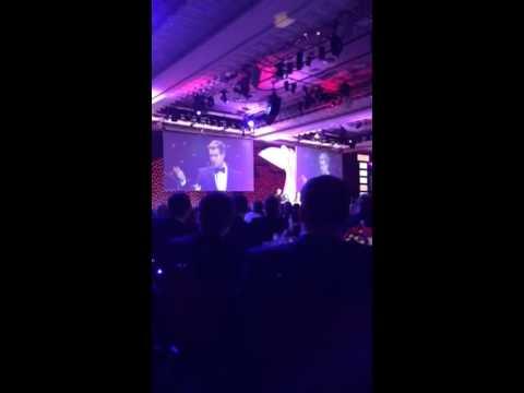 Vettel Impersonation - Autosport Awards 2013