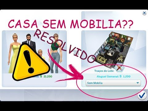 tutorial como resolver casa sem mobilia the sims 4 youtube