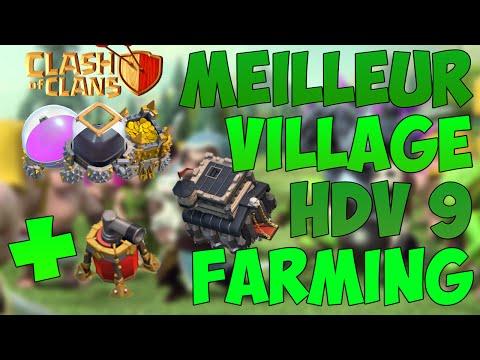 MEILLEUR VILLAGE HDV 9 FARMING AVEC LE PROPULSEUR D'AIR !