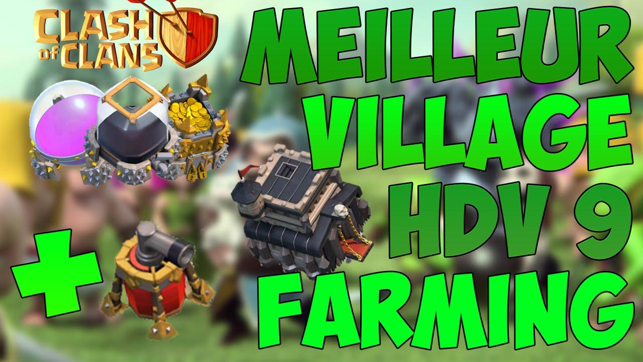 meilleur village hdv 9 farming avec le propulseur d 39 air youtube. Black Bedroom Furniture Sets. Home Design Ideas