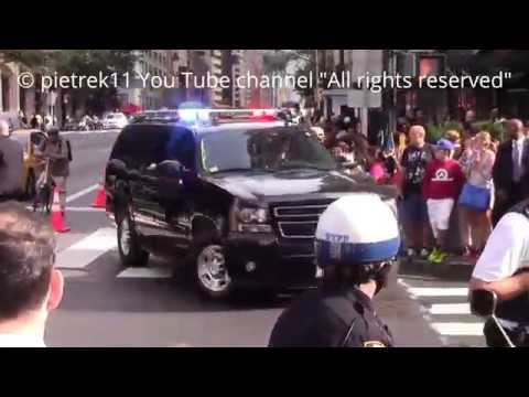 U.S. Secret Service & NYPD policecars 70th Session of the UN General Assembly New York 2015 HD ©