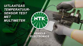 Uitlaatgas Temperatuursensor test met Multimeter