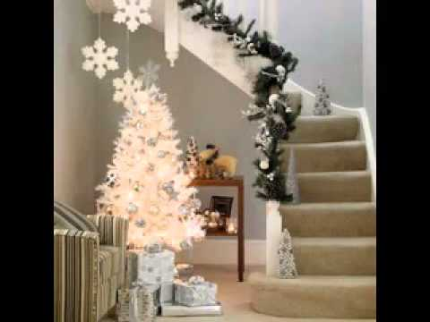 DIY White christmas tree decorating ideas - YouTube
