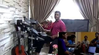 Video Sathara Watin  - Drum & Guitar Cover download MP3, 3GP, MP4, WEBM, AVI, FLV Oktober 2018