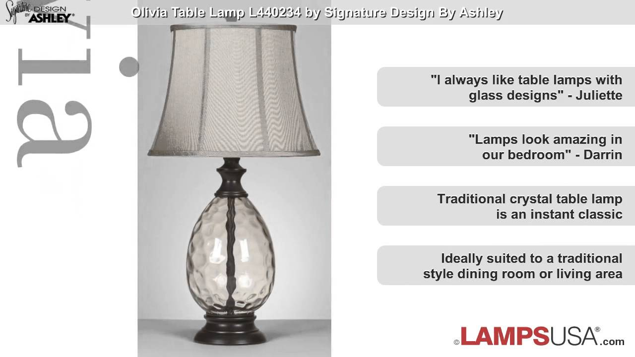 Ashley Olivia 3 Way Table Lamp Bronze L440234