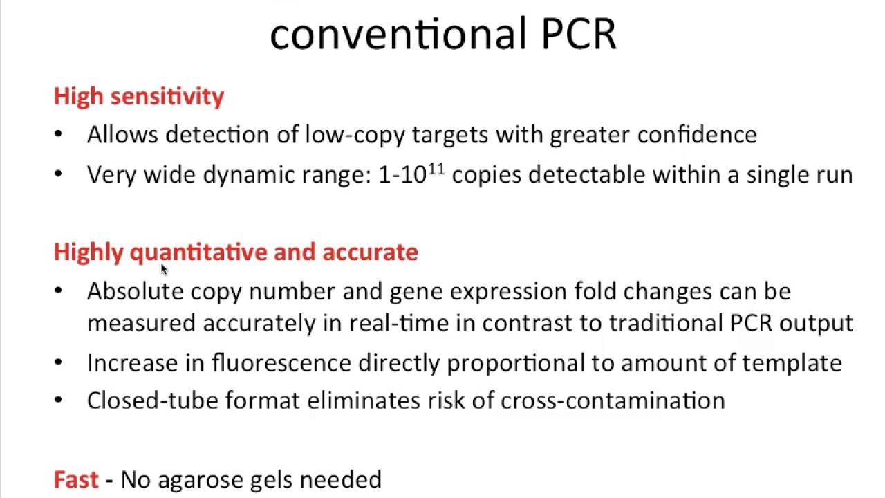 Advantages of Real Time PCR and Its Applications