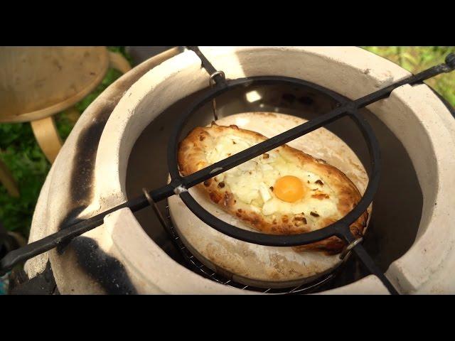 Хачапури по-аджарски в тандыре и газовом гриле