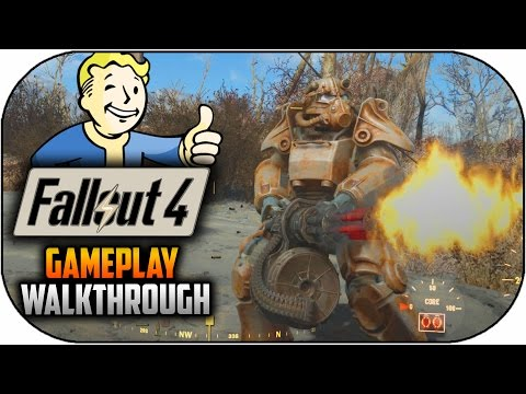 Fallout 4 Gameplay Walkthrough - Character Creation,Explorat