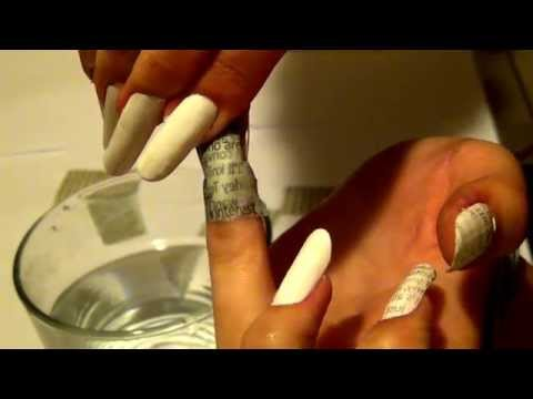 DIY Newspaper Nails with water!!