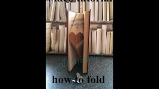 How to book fold a basic heart by Jo Black - All in the folds