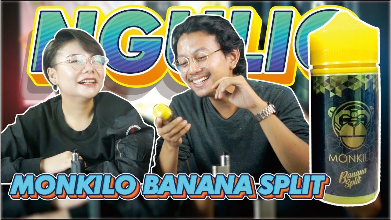 Download Liquid Wuenak Monkilo Rasa  Banana Split Di ulas di single coil dan dual coil RDA!