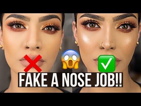 ONE MINUTE NOSE CONTOUR!  HOW TO FAKE A NOSE JOB!  MAKEUPBYALAHA