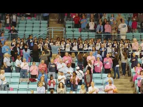 Peak Charter Academy Fifth Grade sings National Anthem at UNC